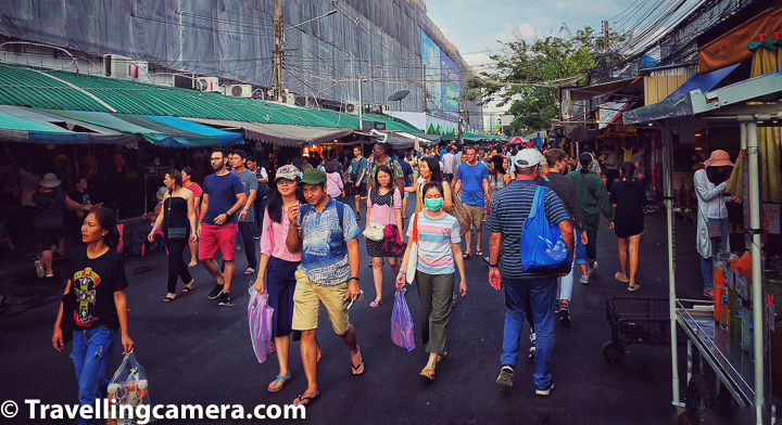 Chatuchak Weekend Market has more than 14000 stalls and more than 10000 vendors. Chatuchak Market sells many different kinds things including plants, antiques, consumer electronics, cosmetics, pets, food and drinks, fresh and dry food, ceramics, furniture and home accessories, clothing, and books.     Related Blog-post : Charming Thai-style Homestay, Authentic Thai food & Ayuthhaya Travel tips || 10-Day Vacation in Thailand (Day 3)
