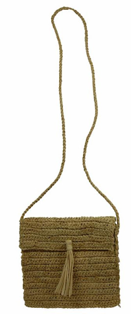 Mini Gusset Straw Bag