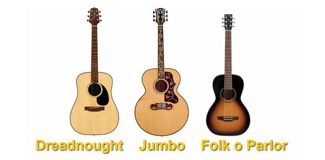 Formas y Tamaños de las Guitarras Acústicas