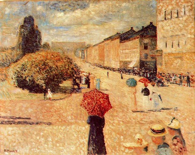 Эдвард Мунк - Весенний день на улице Карла Йогана. 1890
