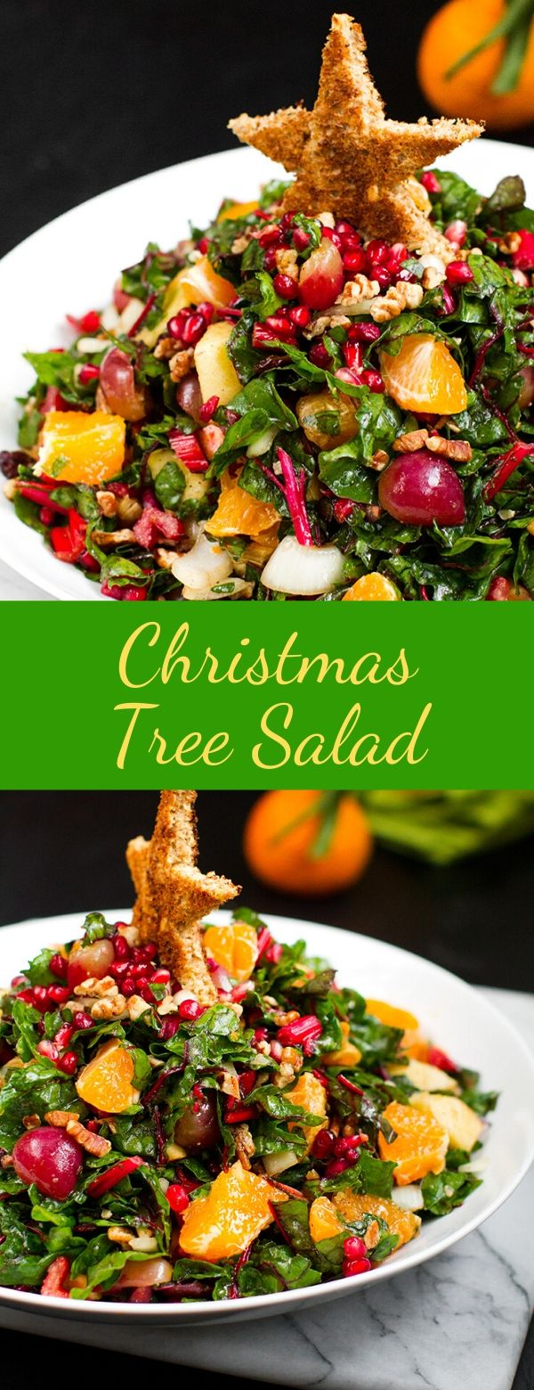 Christmas Tree Salad #salad #christmas