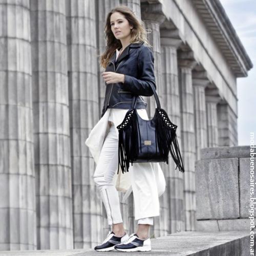 Camperas, carteras, bolsos de cuero colección Corium otoño invierno 2016. Moda otoño invierno 2016.