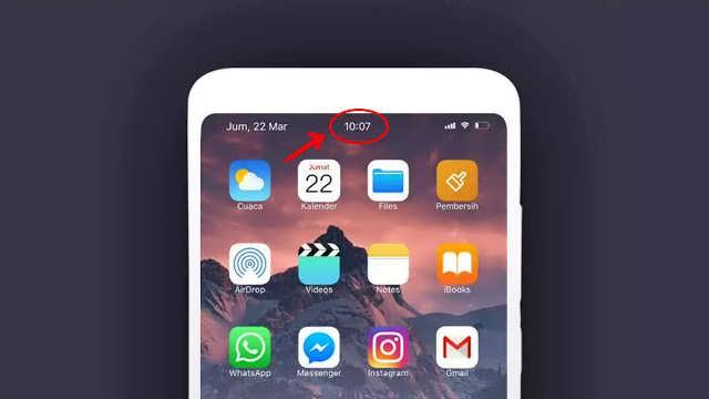 Mod Jam di Tengah ala iOS iPhone di Semua Tipe Smartphone Xiaomi: Miui 11, Miui 10, Miui 9, Miui 8, Miui 7 are Welcome