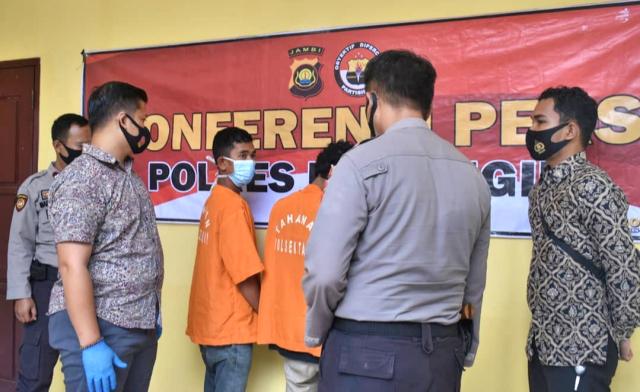 Masih Usia Belasan Tahun, Duo Jambret di Jambi Dibekuk Polisi