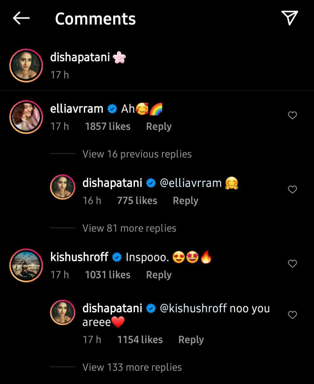 Actors Gossips: Here how Tiger Shroff, Krishna Shroff reacted to Disha Patani sizzling photo from the Maldives