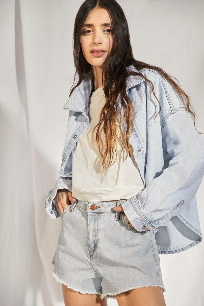 camisas de jean mujer verano 2021