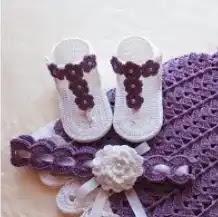 Sandalias Bebé a Crochet