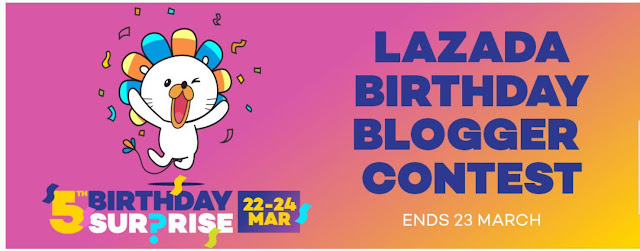 LAZADA BIRTHDAY BLOGGER CONTEST