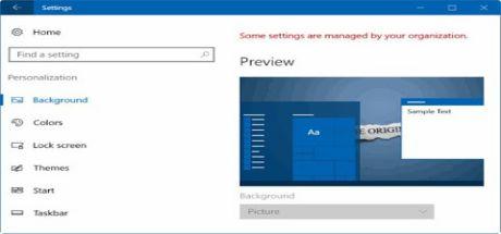 Lỗi Không thể thay đổi hình nền Desktop Windows 10
