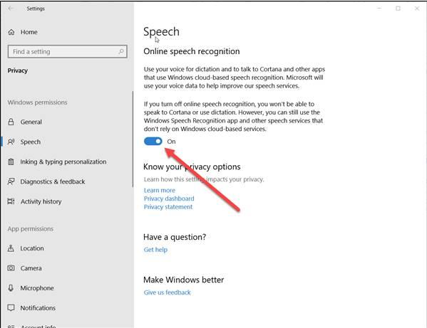 Cara mematikan pengenal suara di Windows 10
