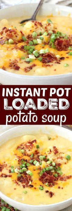 Instant Pot Loaded Potato Soup