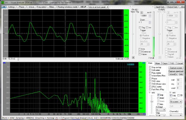 Osciloscopio para PC casero Visual Analyzer.
