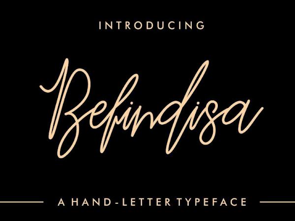 Download Befindisa Hand-Letter Script Font Free