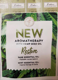 Bath & Body Works | New Aromatherapy Scent Releasing In A Select Few Stores | Restore With Hemp Seed Oil - Sage and Mint
