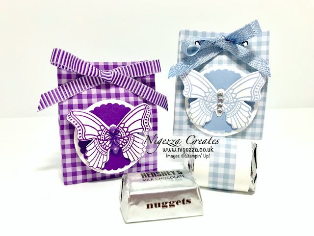 Hersheys nuggets gift bag butterfly gala Stampin Up