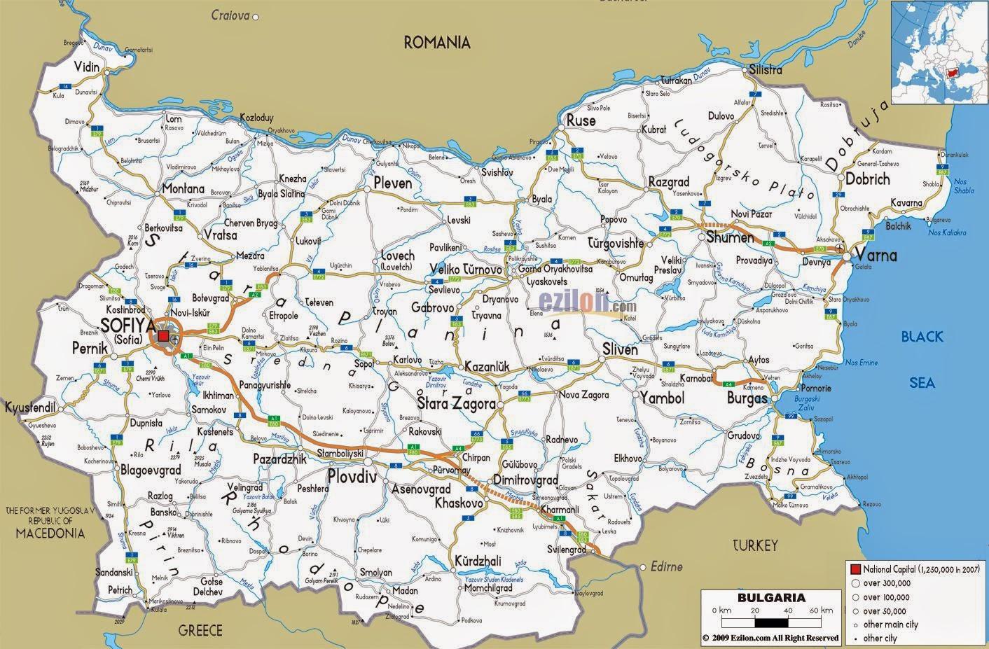Romania Live Harta Rutiera Bulgaria