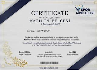 Hakan Çolak, eğitim, sertifika, futbol, menajerlik