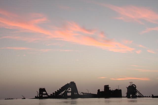 Pôr do sol em Moreton Island