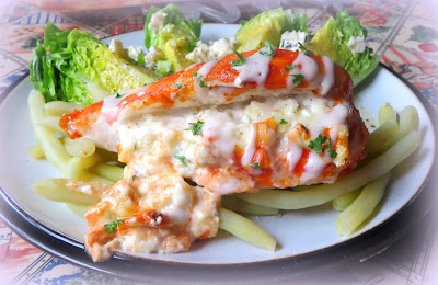 Stuffed Buffalo Chicken for Two