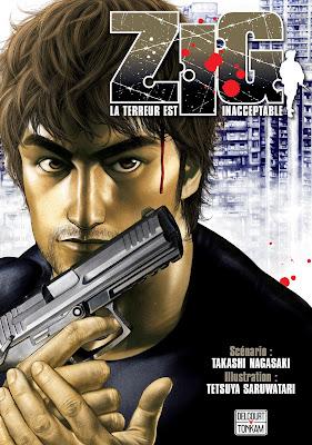 """couverture """"ZIG, La terreur est inacceptable"""" de Takashi Nagasaki et Tetsuya Saruwatari paru chez Delcourt Tonkam"""