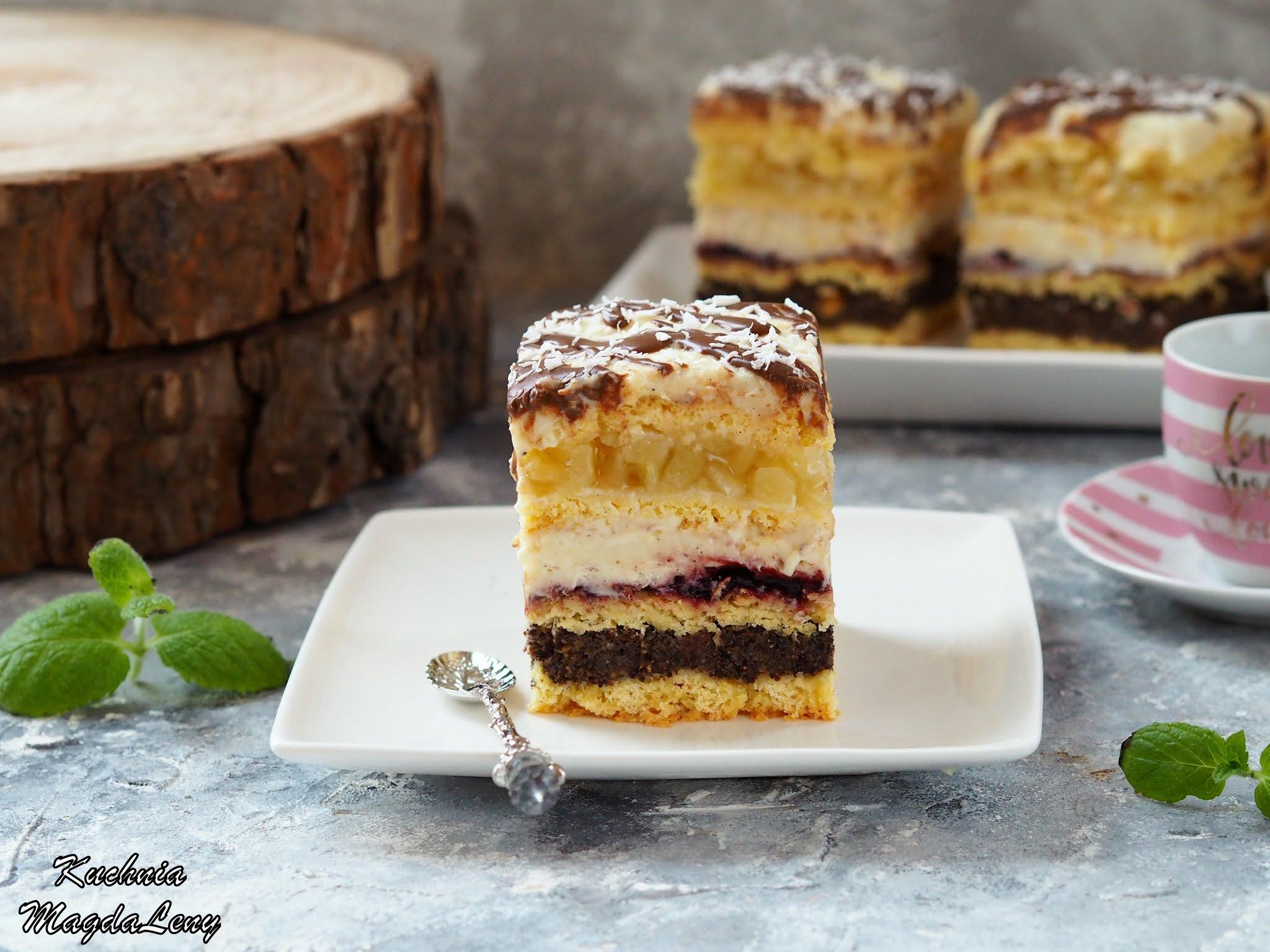 Ciasto makowe z masą budyniową