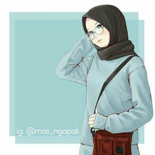 Gambar kartun muslimah cantik banget