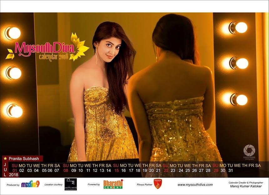 My South Diva Calendar 2018 - Pranitha Subhash