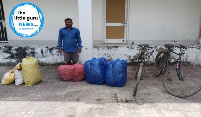 घोड़ासहन के सीमावर्ती क्षेत्र से तंबाकू के साथ एक तस्कर को एसएसबी ने पकड़ा