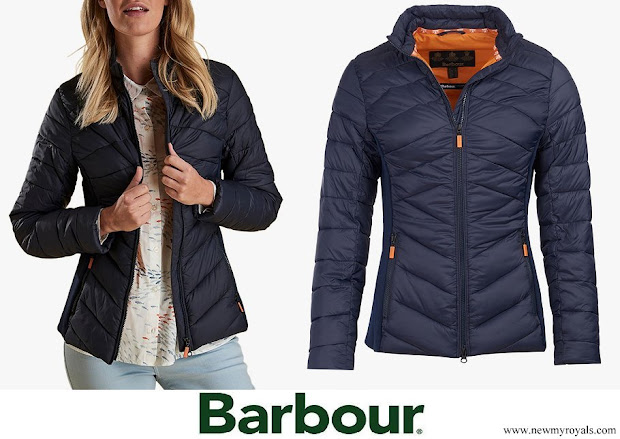 Kate Middleton wore Barbour Longshore Quilted Jacket