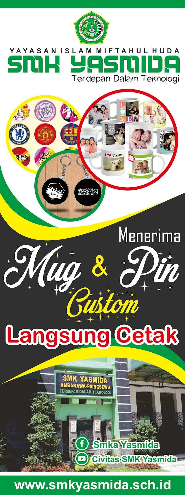 Desain X Banner Stand Mug dan Pin SMK Yasmida Ambarawa