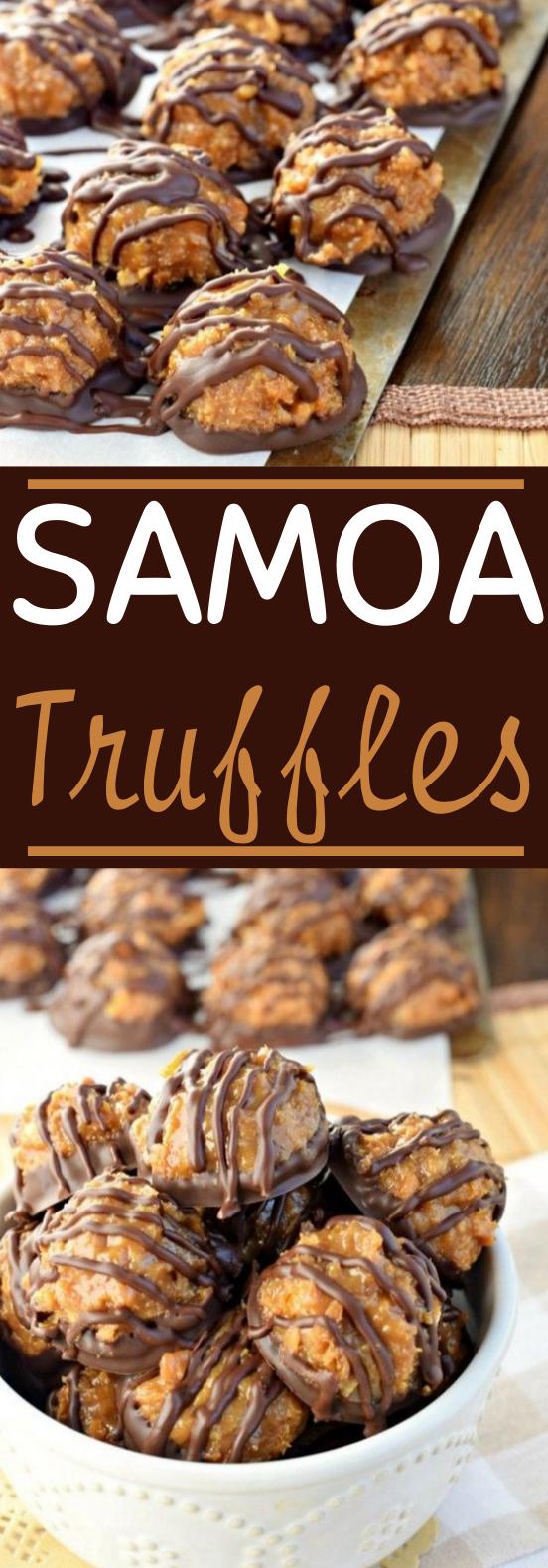 Samoa Truffles #easy #desserts #nobake #chocolate #cookies