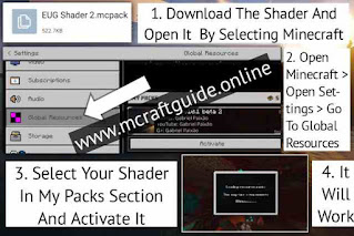 how to install shaders in minecraft pe