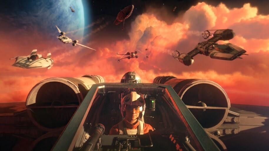Star Wars Squadrons, Pilot, New Republic, Starships, 4K, #5.2160