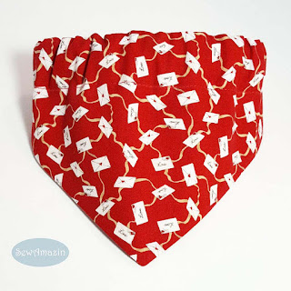 Love Letters Red Valentine Dog Bandana
