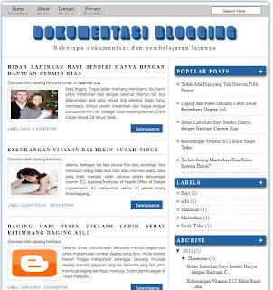 Template blogger yang cocok buat ternak akun adsense