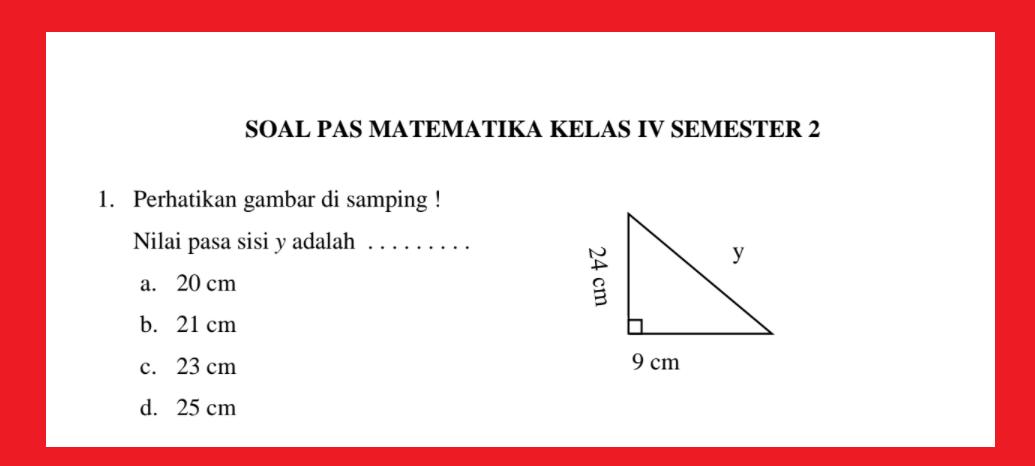 gambar soal & Jawaban PAT Matematika kelas 4 semester 2 tahun 2021