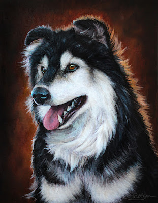 Kodi the Dog Pet Portrait Commission by Danielle Trudeau