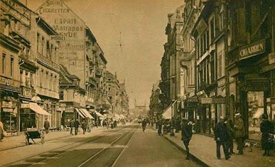 Mannheim, la importante calle Breite en 1922