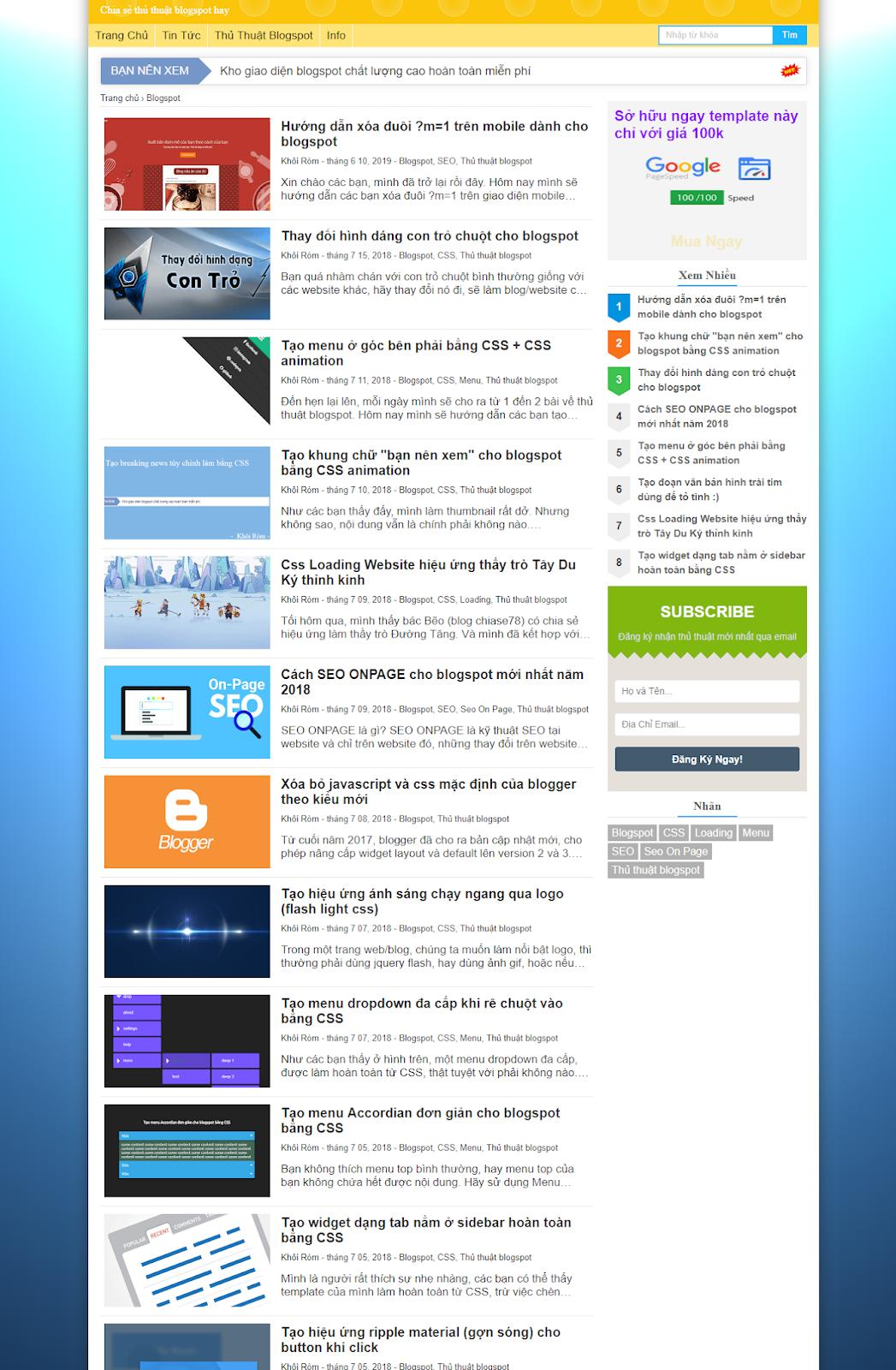 Template Blogspot Super Fast Load Template Ver 2 - Ảnh 2