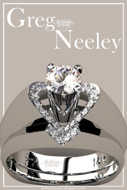 Greg Neeley V Top Princess Diamond Engagement Ring Set #jewelry  #brilliantluxury
