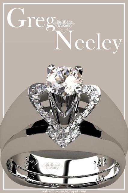 Greg Neeley V Top Princess Diamond Engagement Ring Set #brilliantluxury