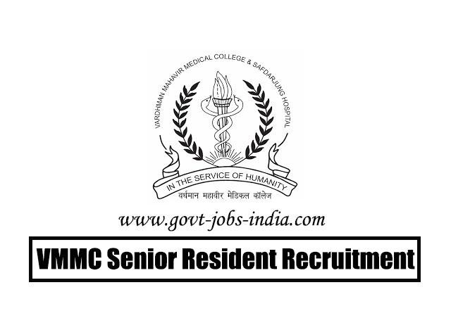 VMMC Senior Resident Recruitment 2020 – 178 Senior Resident Vacancy – Last Date 26 May 2020