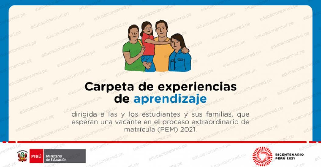 MINEDU: Carpeta de Experiencias de Aprendizaje 2021