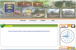 Sistem Informasi Statistik Pertanian dan Perkebunan Pada BPS Kota Metro