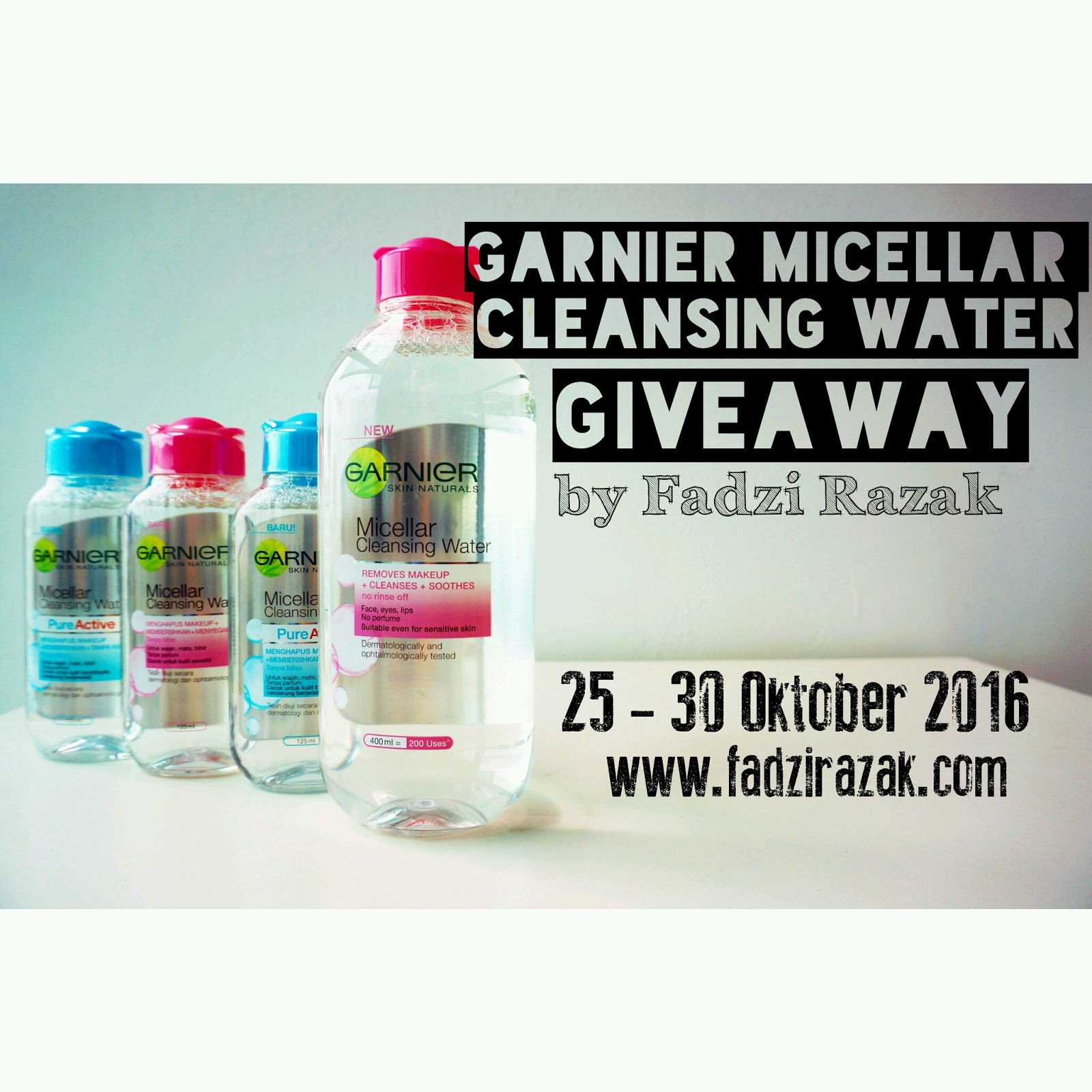 Giveaway Garnier Micellar Cleansing Water by Fadzi Razak