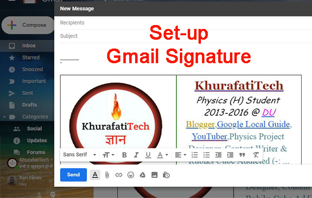 To set Up a Signature in Gmail