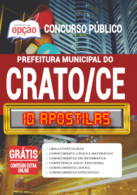 Apostila Concurso Prefeitura do Crato CE 2020 PDF Edital Online Inscrições