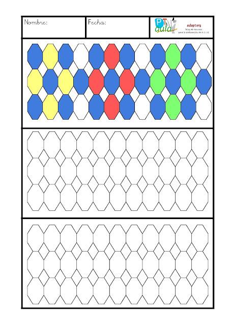 fichas de primaria plantilla para mosaicos