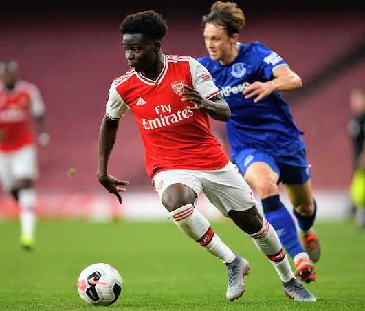 EPL: Arsenal Fans Hail Bukayo Saka For Performance