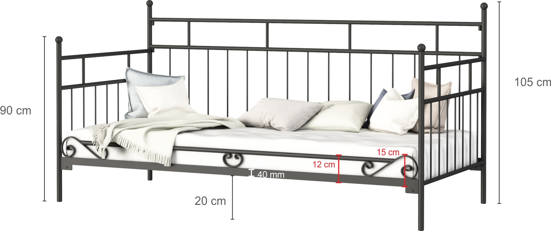 Łóżko metalowe sofa wzór 10